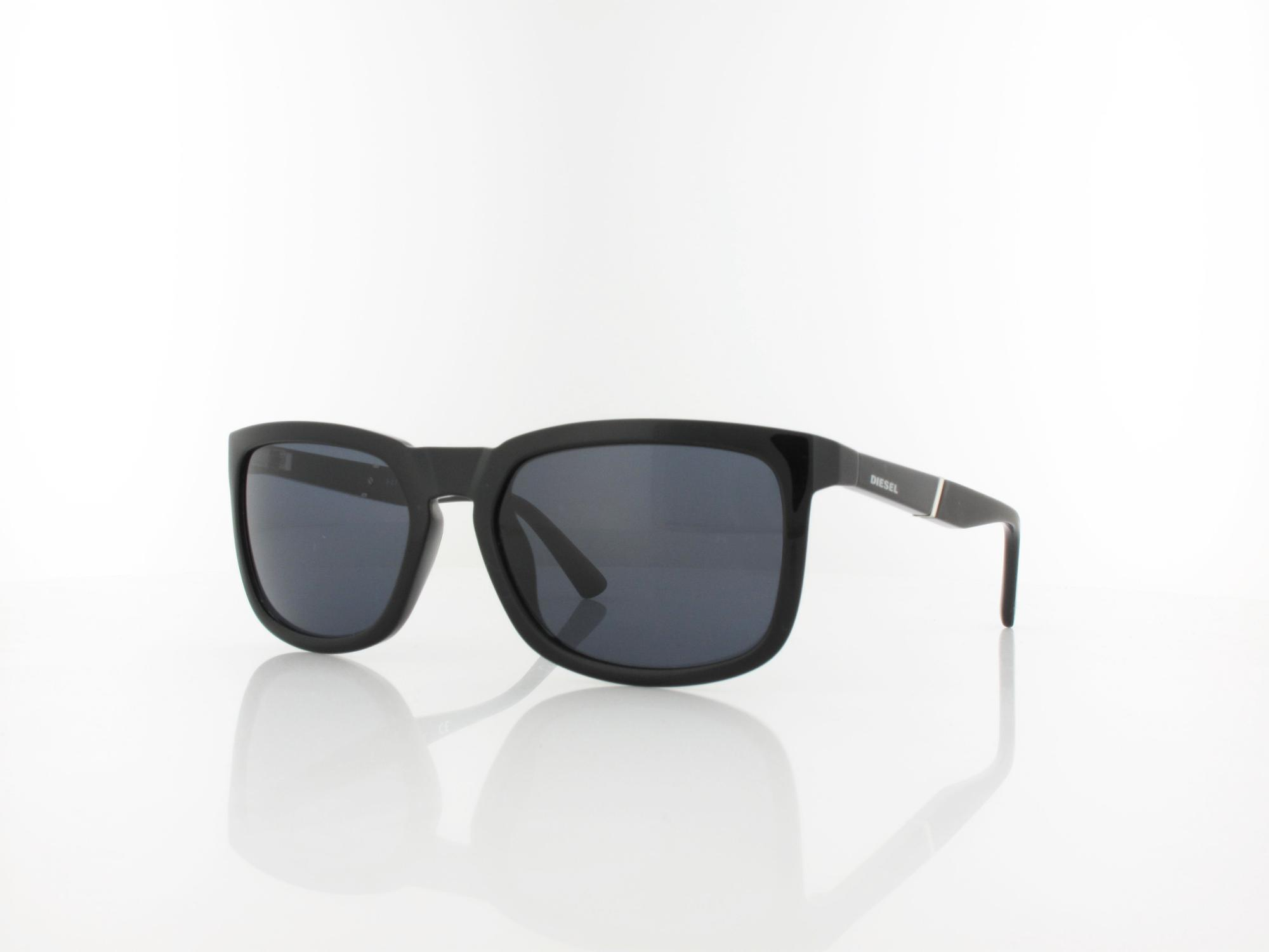 Diesel | DL0262 01A 56 | shiny black / grey