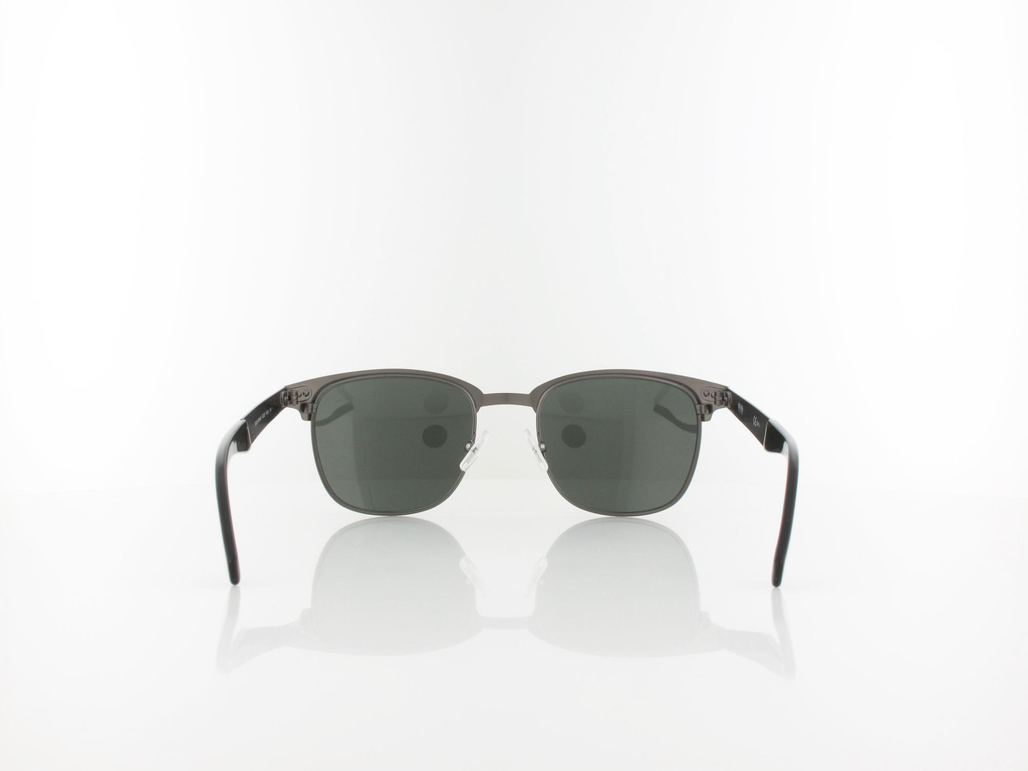 Hugo Boss | Boss 0595/N/S RZZ 53 | matt black dark ruthenium / grey