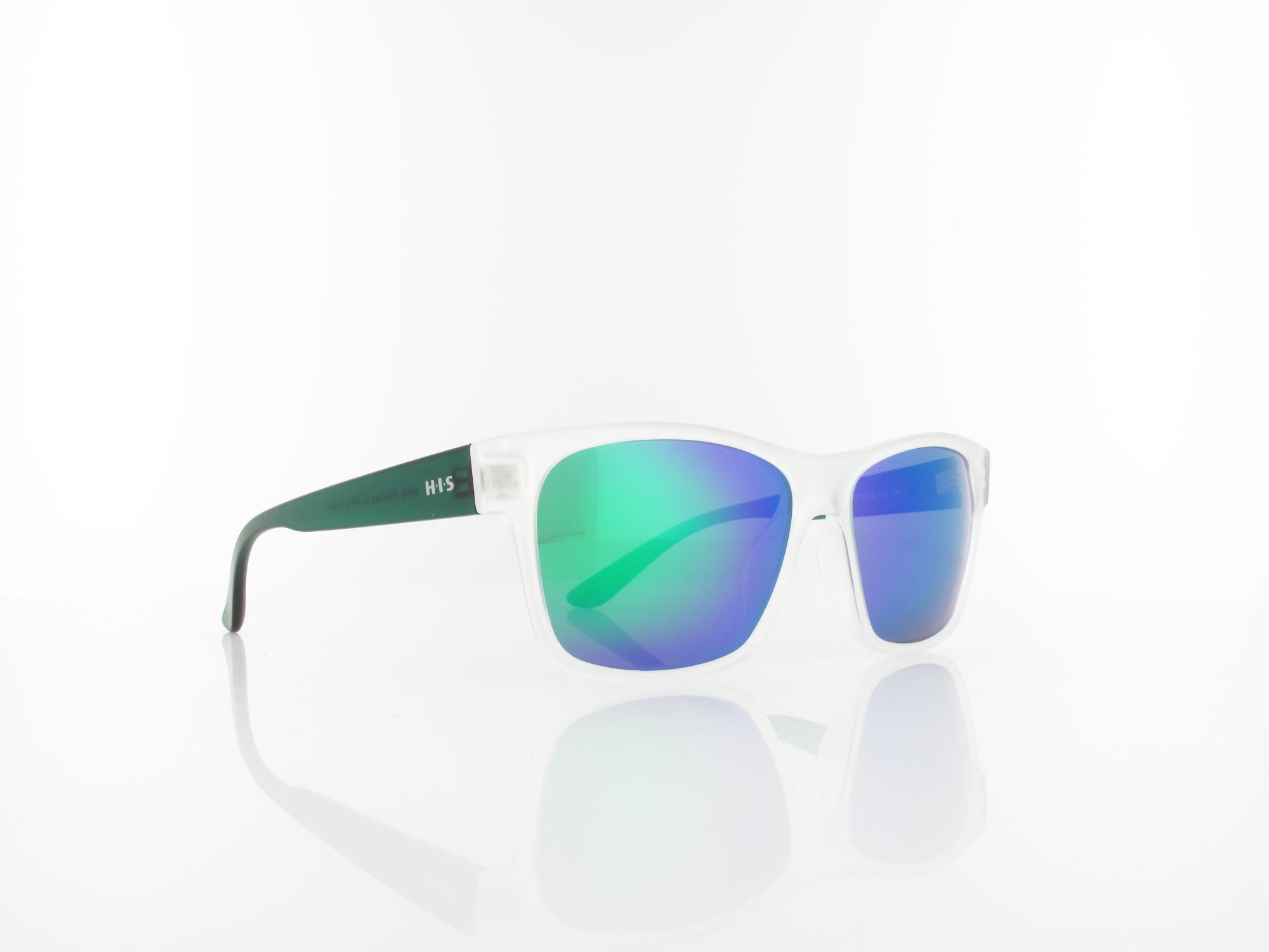 HIS polarized | HP58123-3 57 | matt crystal green / grey and icy green revo polarized