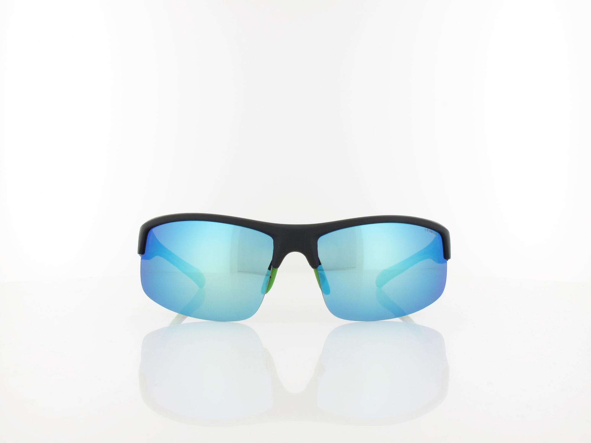 Polaroid | PLD 7019/S 7ZJ/5X 67 | black green / grey blue mirror polarized