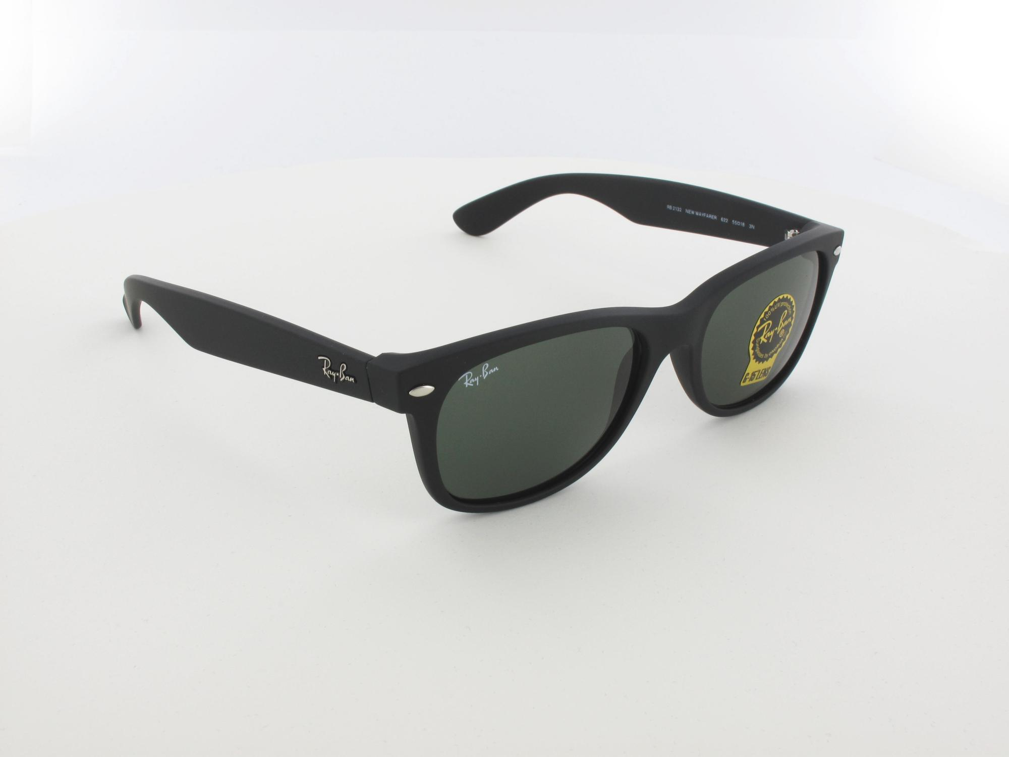 Ray Ban | New Wayfarer RB2132 622 55 | black rubber / green