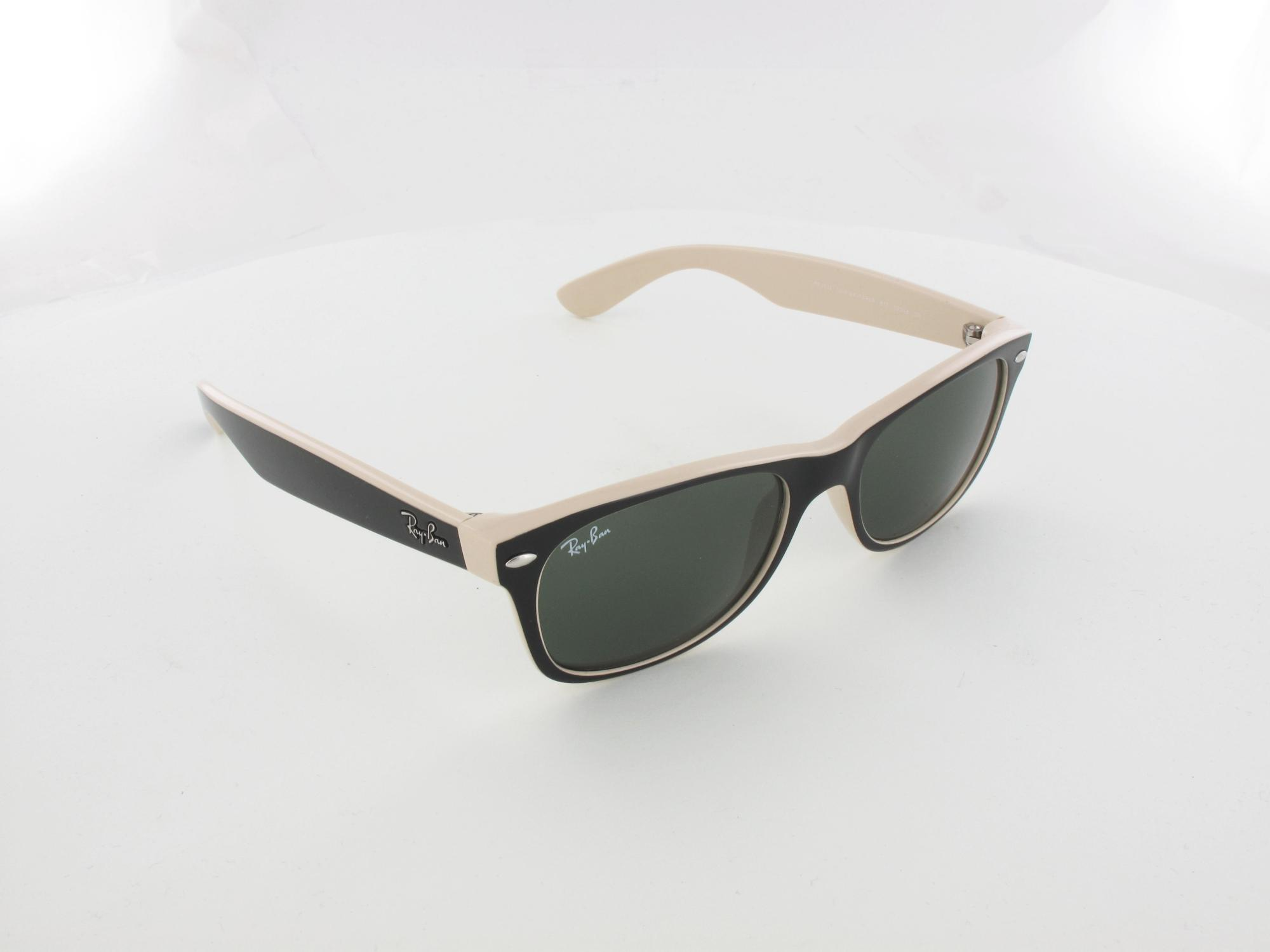 Ray Ban | New Wayfarer RB2132  875 52 | top black on beige / crystal green