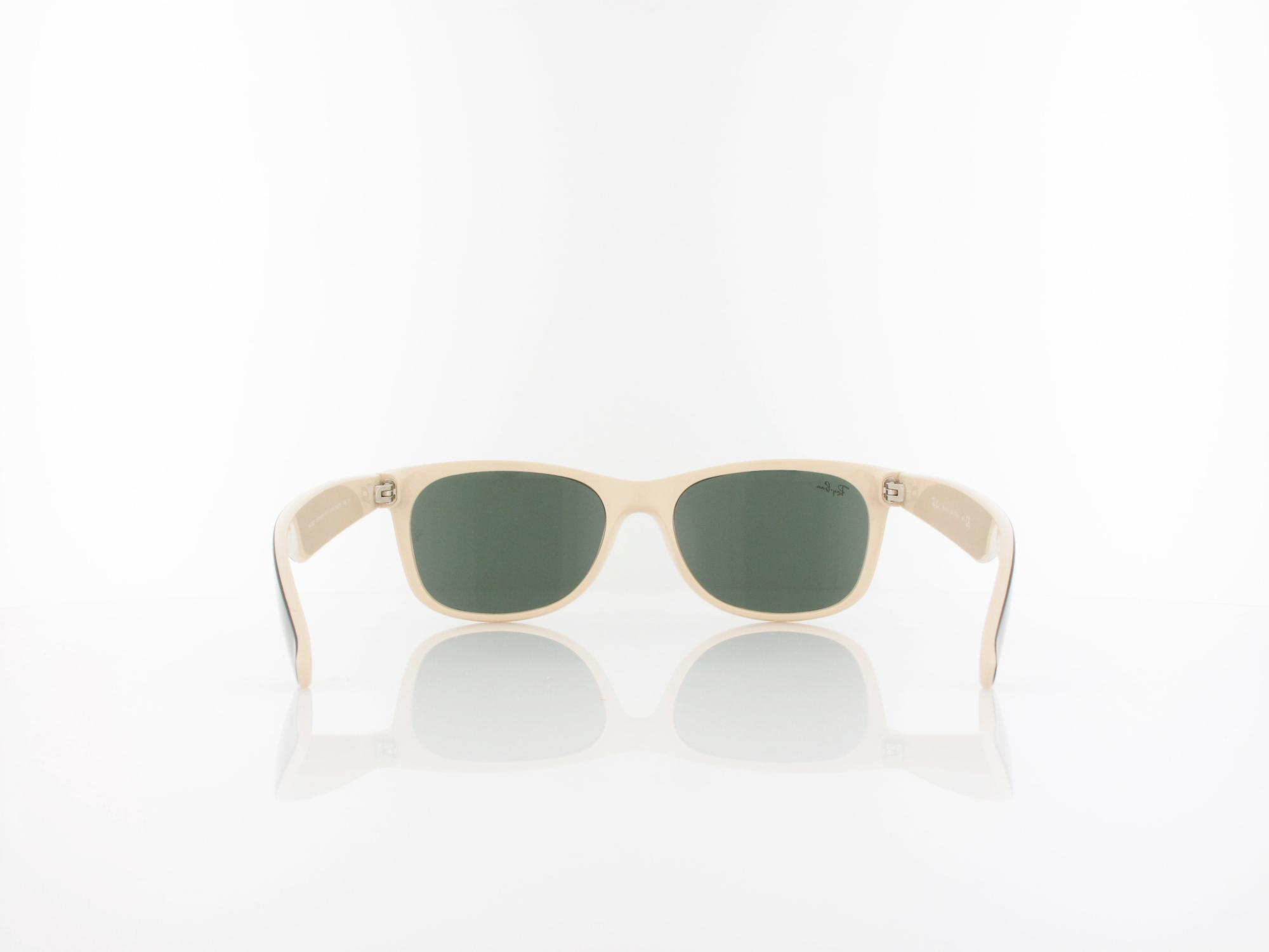 Ray Ban | New Wayfarer RB2132  875 55 | top black on beige / crystal green