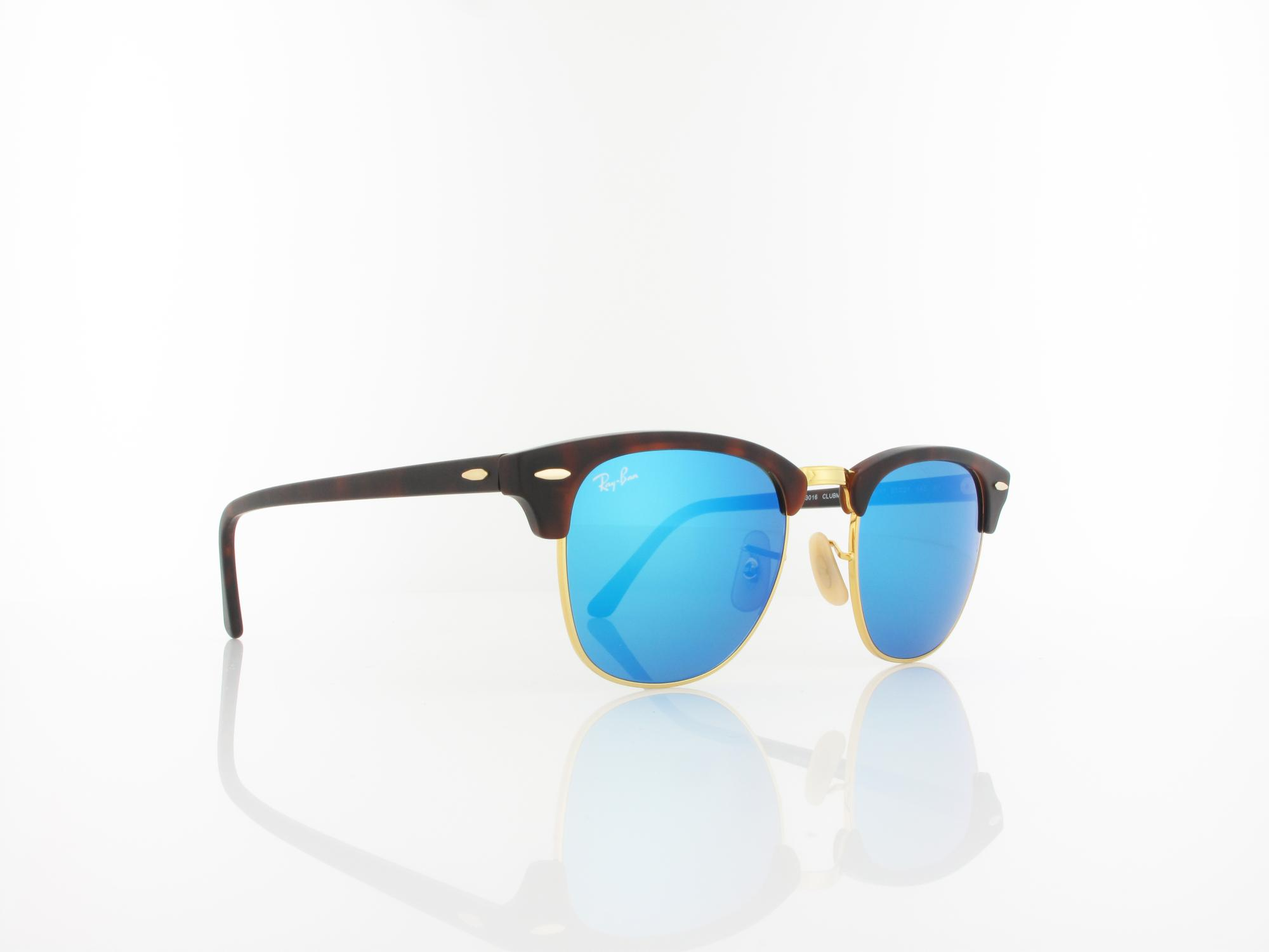Ray Ban | Clubmaster RB3016 114517 51 | sand havana gold / grey mirror blue