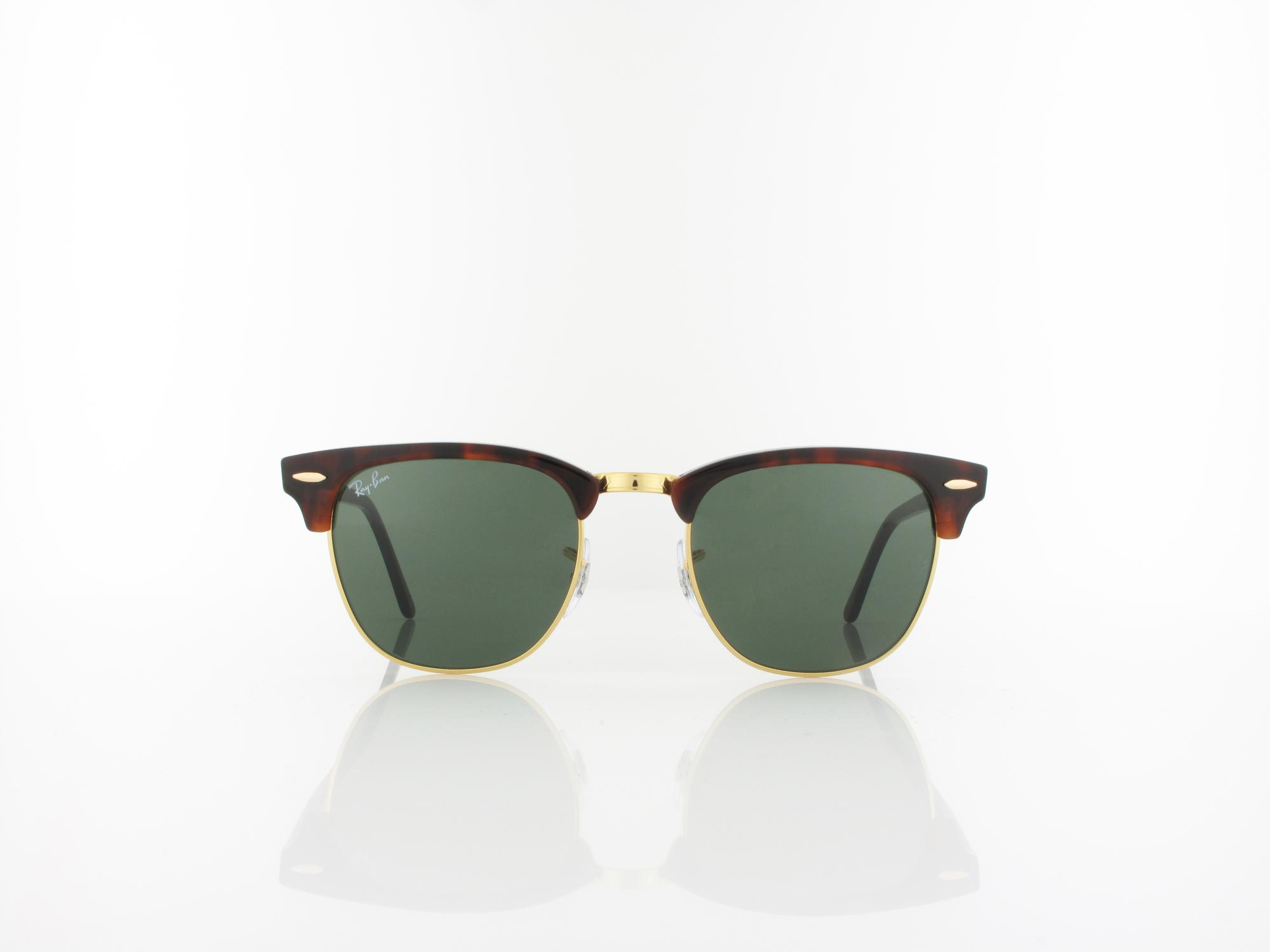 Ray Ban | Clubmaster RB3016 W0366 49 | mock tortoise arista / crystal green