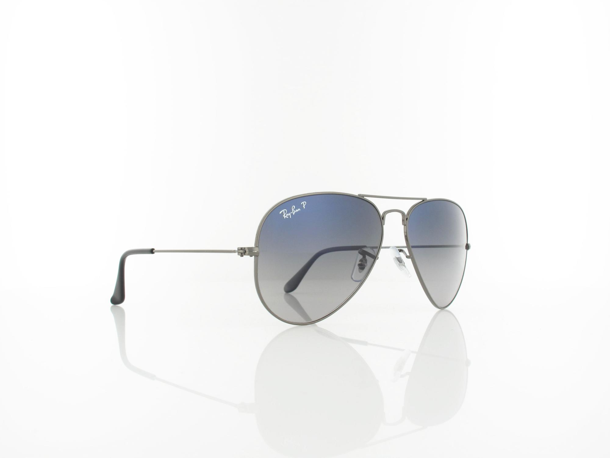 Ray Ban | Aviator Large Metal RB3025 004-78 58 | gunmetal crystal / crystal polar blue grey gradient