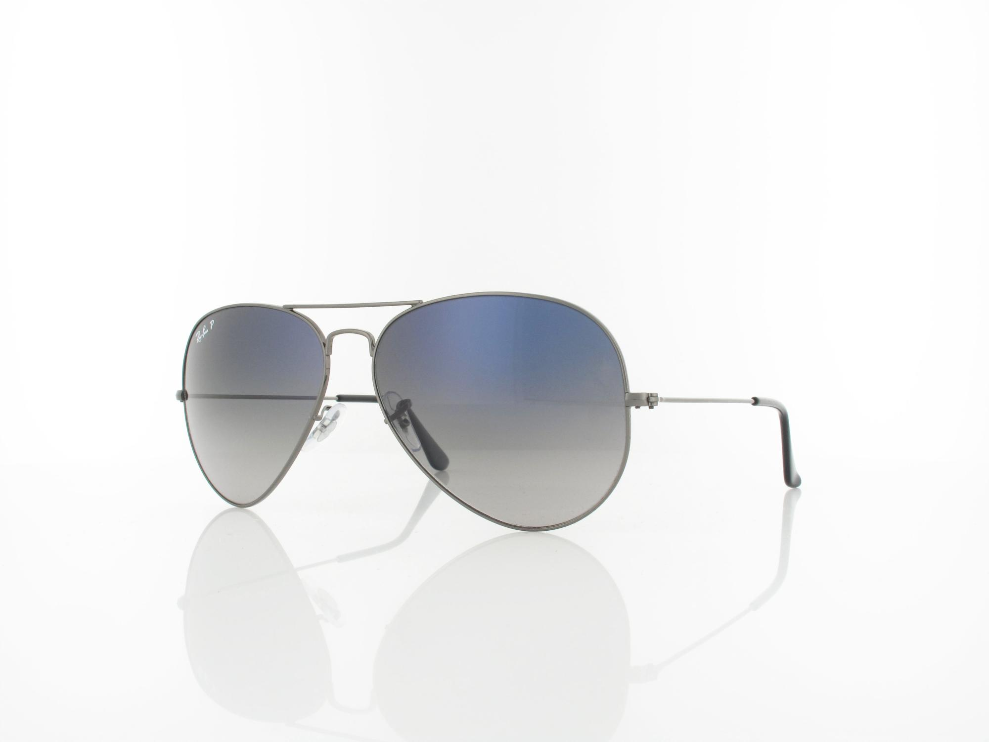 Ray Ban | Aviator Large Metal 004/78 62 | gunmetal / cryst. blue polar gradient gray
