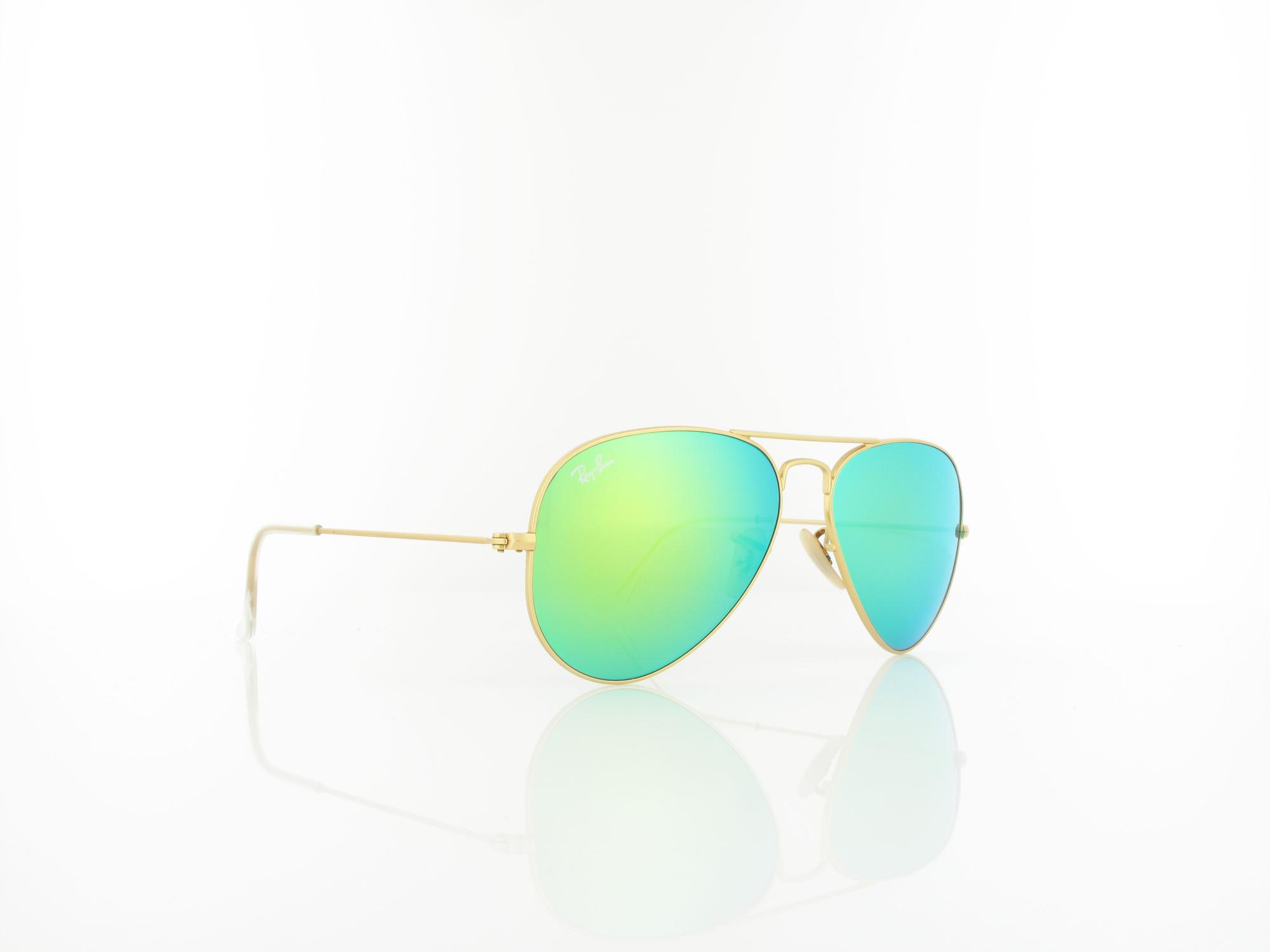 Ray Ban | Aviator Large Metal RB3025 112/19 55 | matte gold / green mirror
