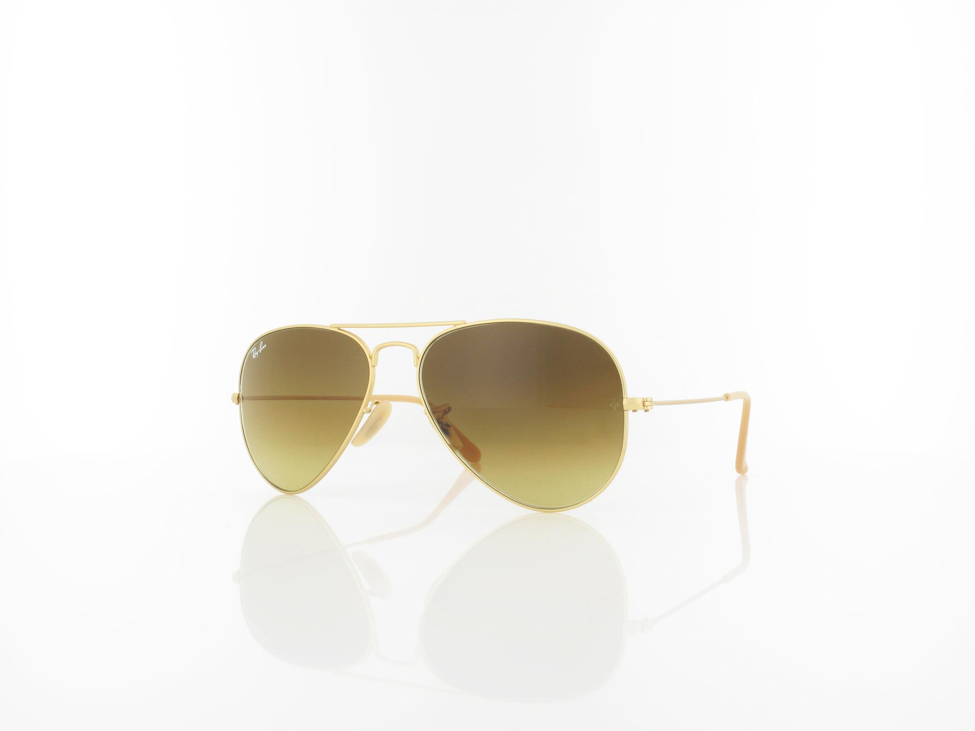 Ray Ban | Aviator Large Metal RB3025 112/85 55 | matte gold / brown gradient