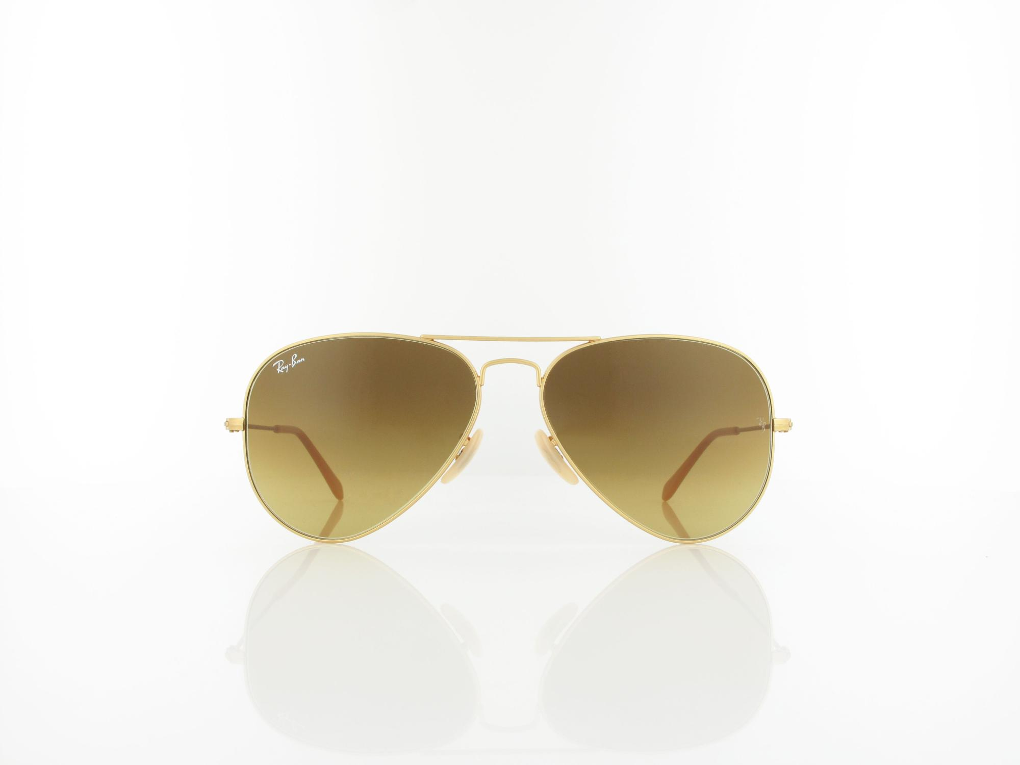 Ray Ban | Aviator Large Metal RB3025 112/85 58 | matte gold / brown gradient