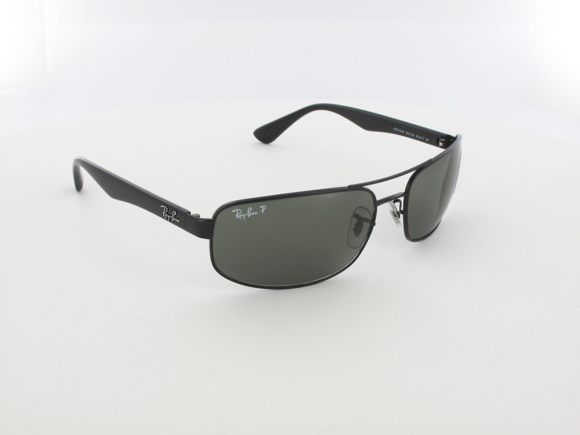 Ray Ban | RB3445 002/58 61 | black / crystal green polarized
