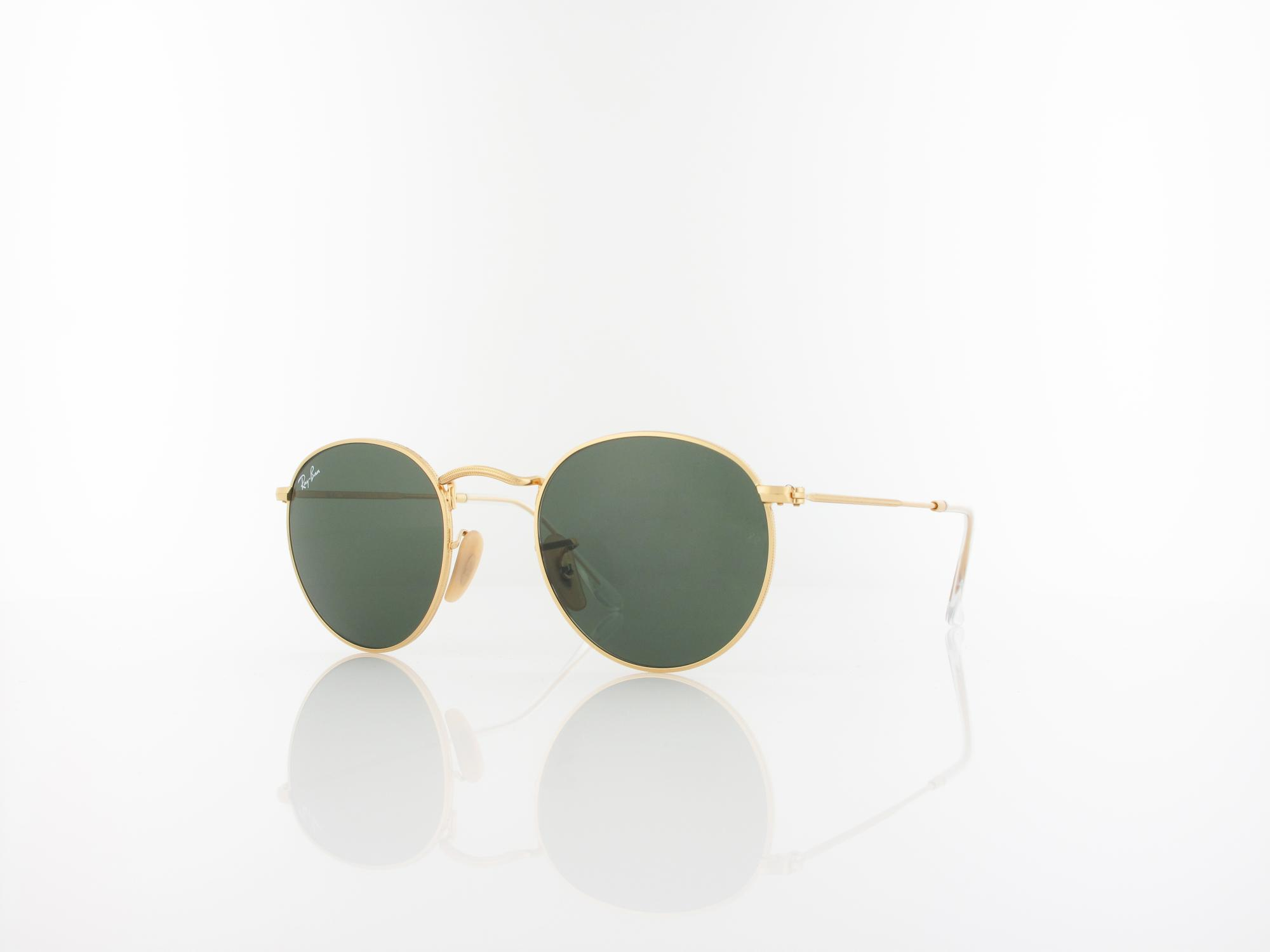 Ray Ban | Round Metal RB3447 001 47 | gold / crystal green