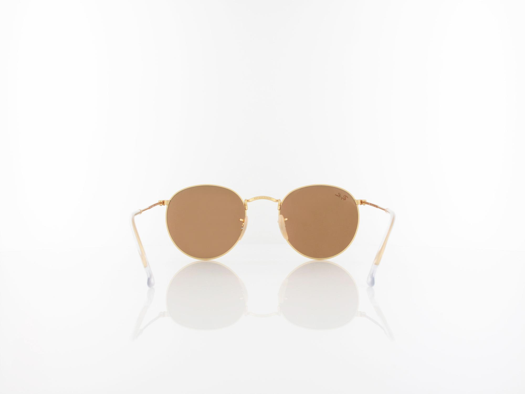 Ray Ban | Round Metal RB3447 112/Z2 50 | matte gold / brown mirror pink