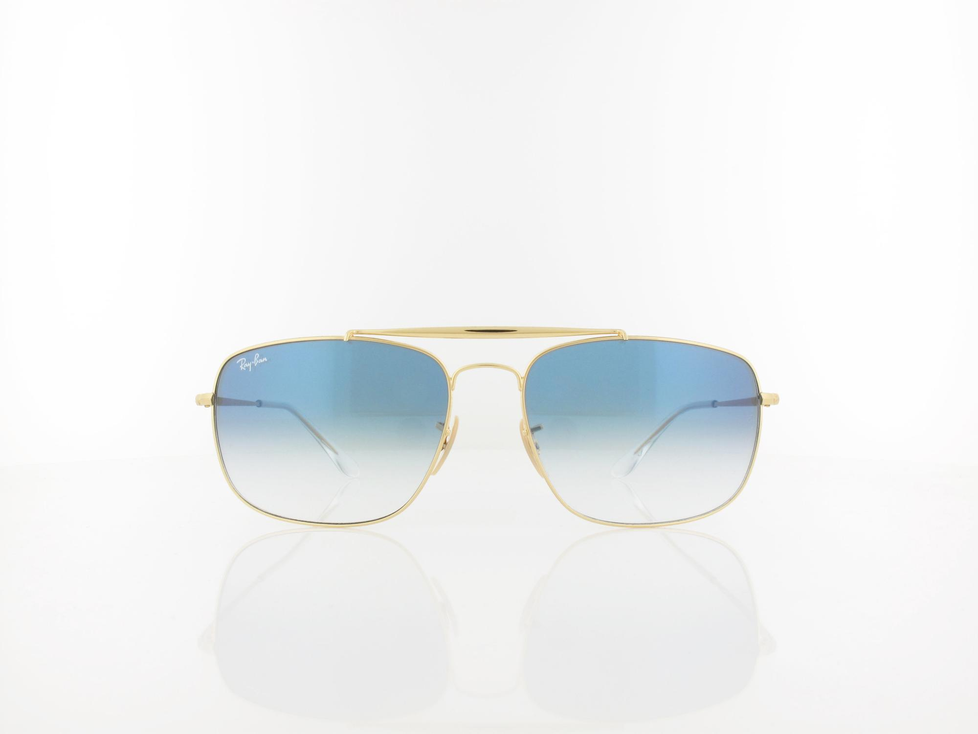 Ray Ban | THE COLONEL RB3560 001/3F 61 | gold / clear gradient blue