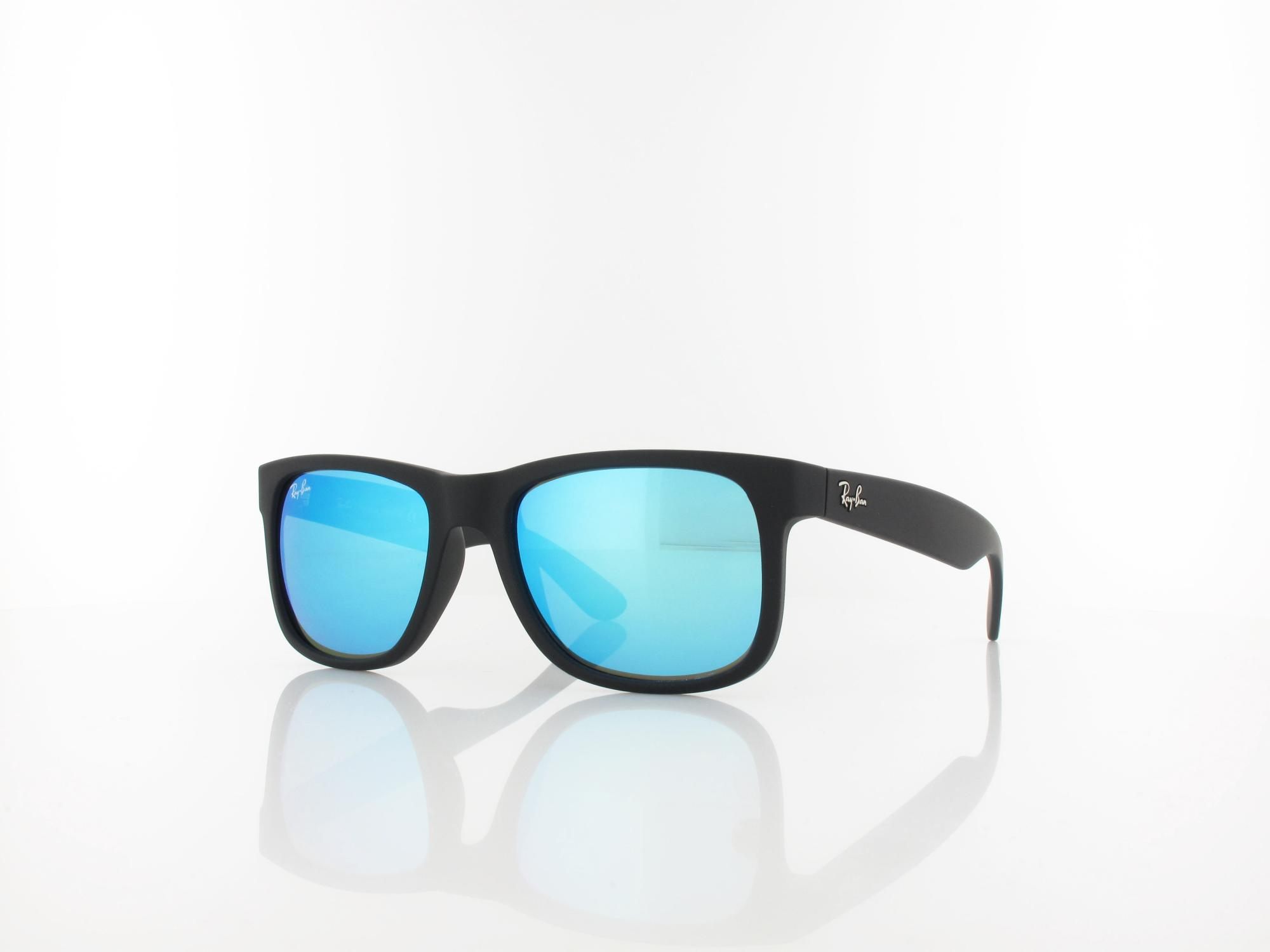 Ray Ban | Justin RB4165 622/55 51 | black rubber / green mirror blue
