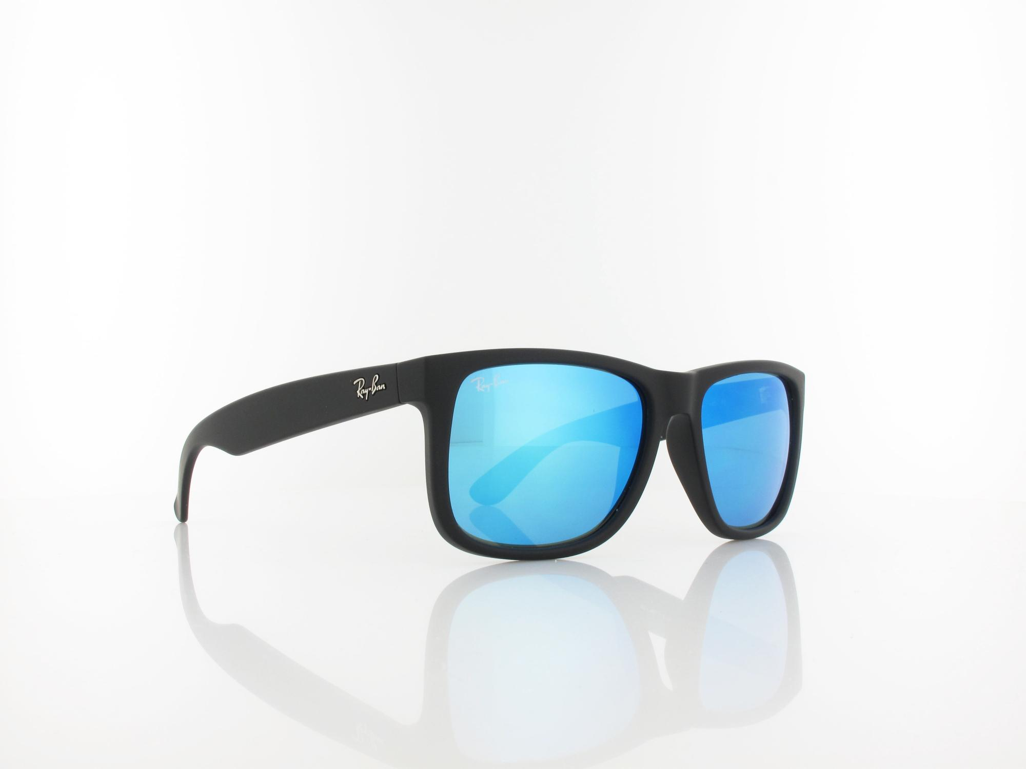Ray Ban | Justin RB4165 622/55 54 | black rubber / green mirror blue