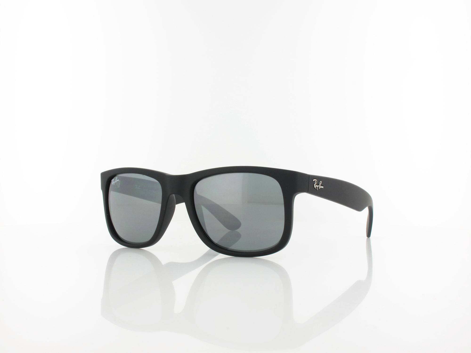 Ray Ban | Justin RB4165 622/6G 51 | rubber black / grey mirror silver