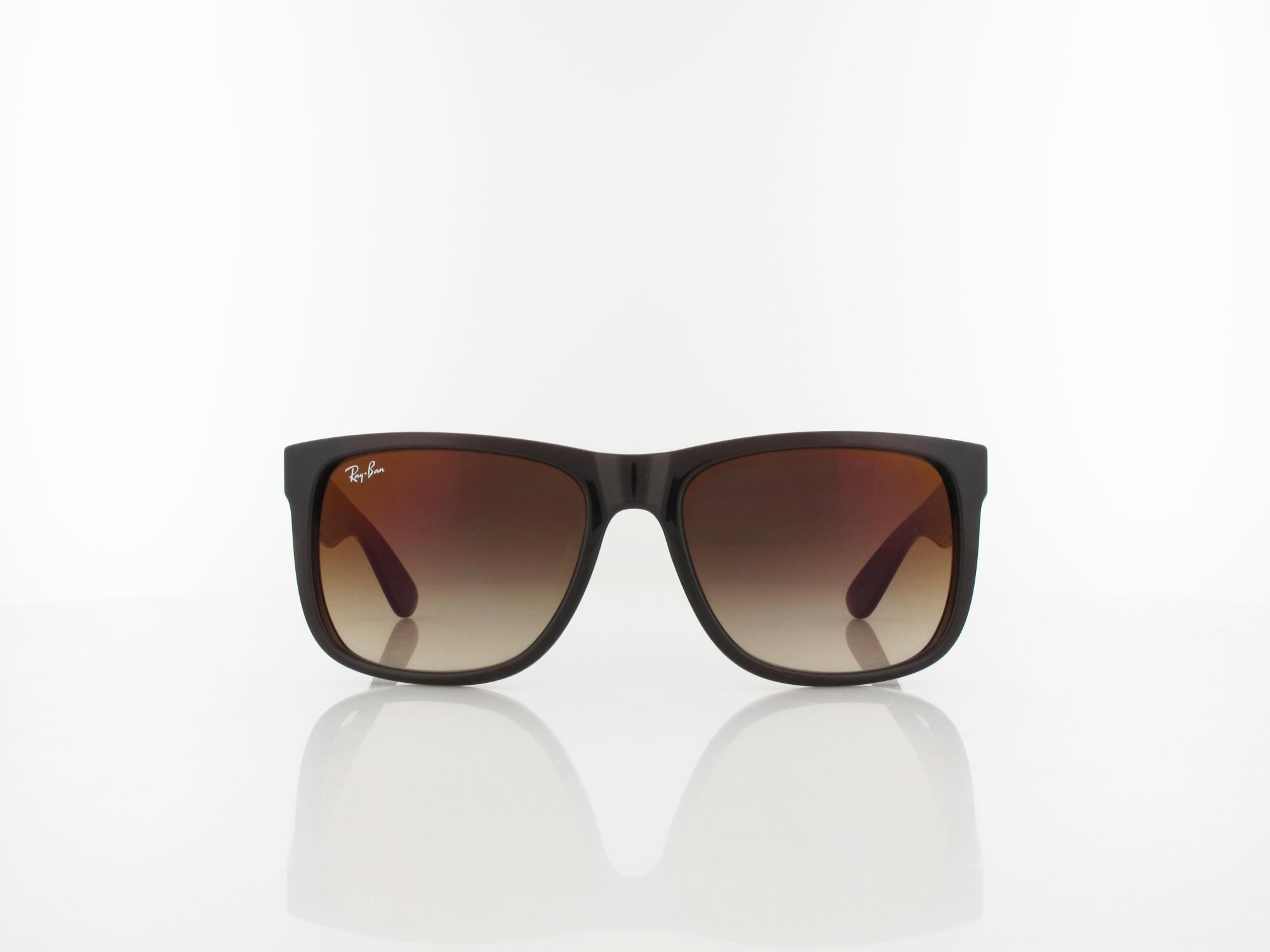 Ray Ban | JUSTIN RB4165 714/S0 55 | brown / brown gradient mirror red