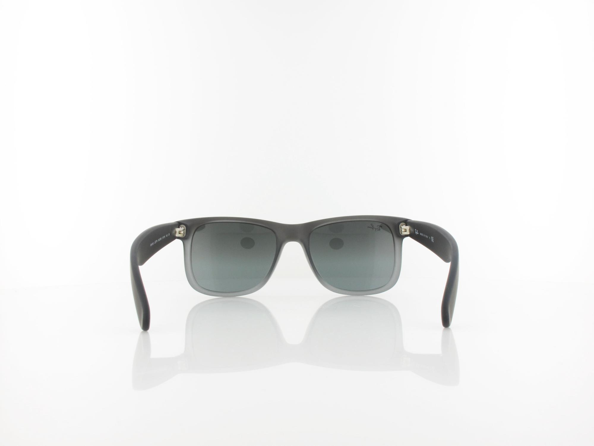 Ray Ban | Justin RB4165 852/88 51 | rubber grey transparent / grey silver mirror gradient