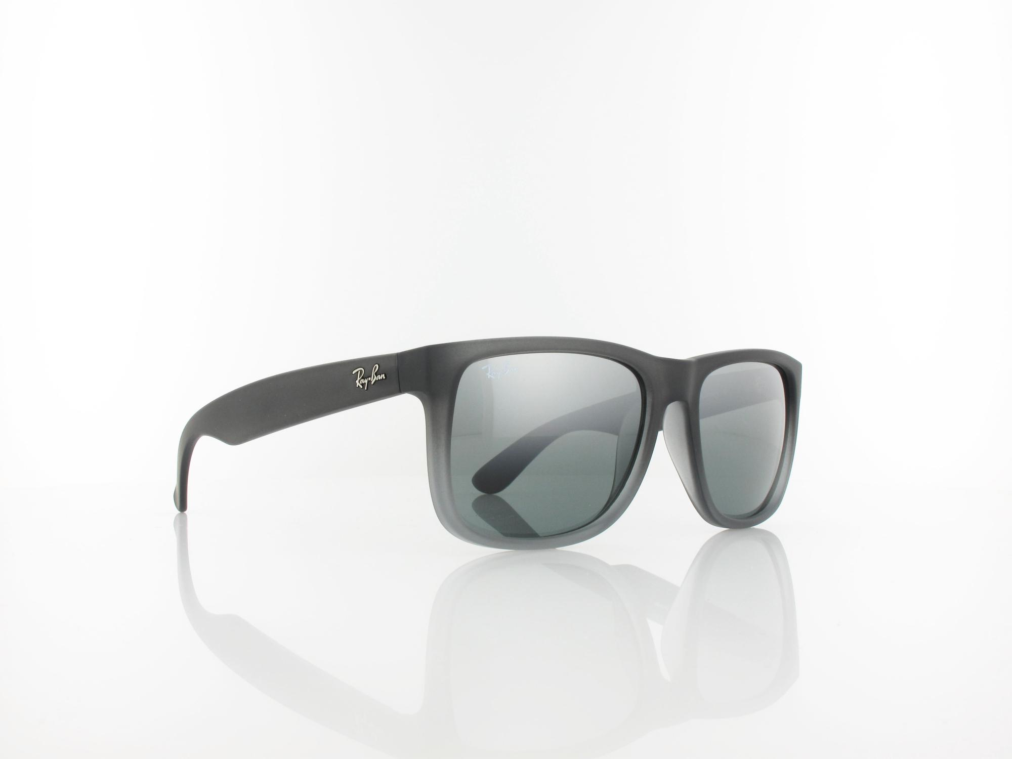 Ray Ban | Justin RB4165 852/88 54 | rubber grey transparent / grey silver mirror gradient