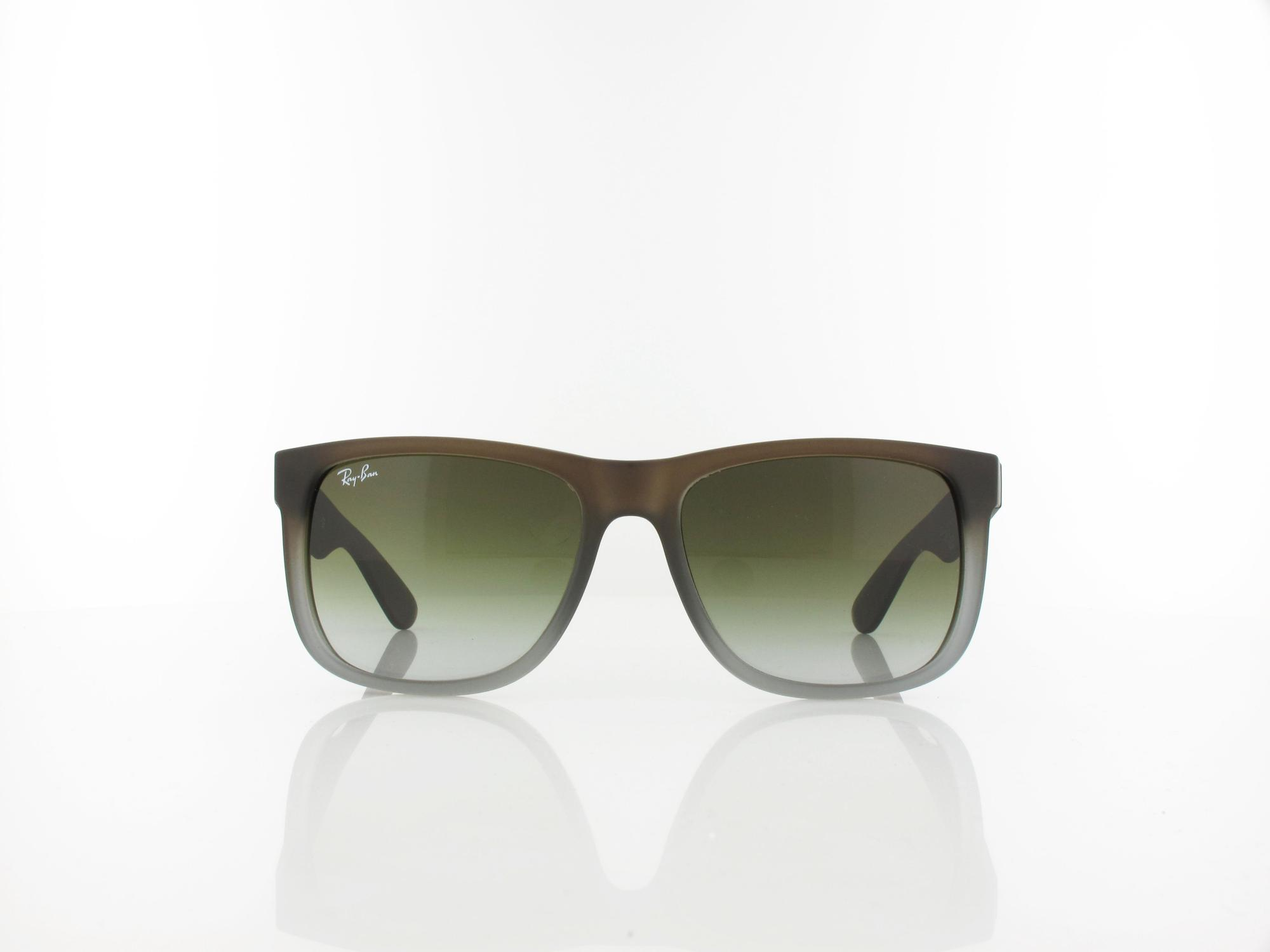 Ray Ban | Justin RB4165 854/7Z 54 | rubber brown on grey / green gradient