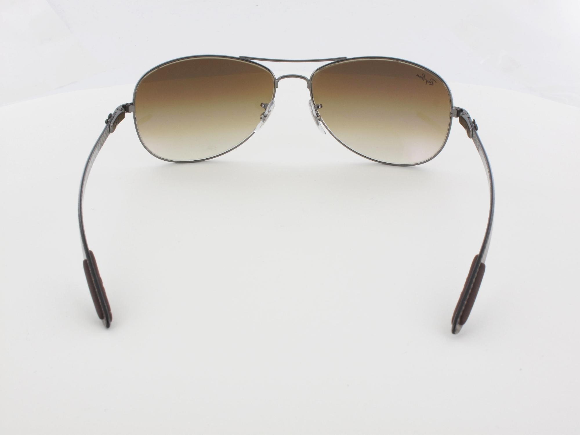 Ray Ban | Carbon Fibre RB8301 004/51 59 | gunmetal / crystal brown gradient