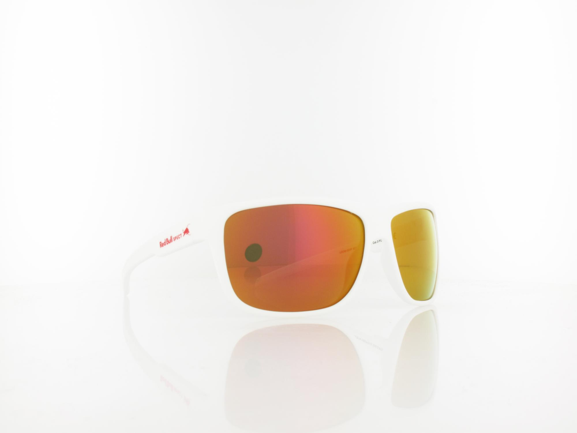 Red Bull SPECT | LOOM 004P 62 | white / brown with red mirror pol