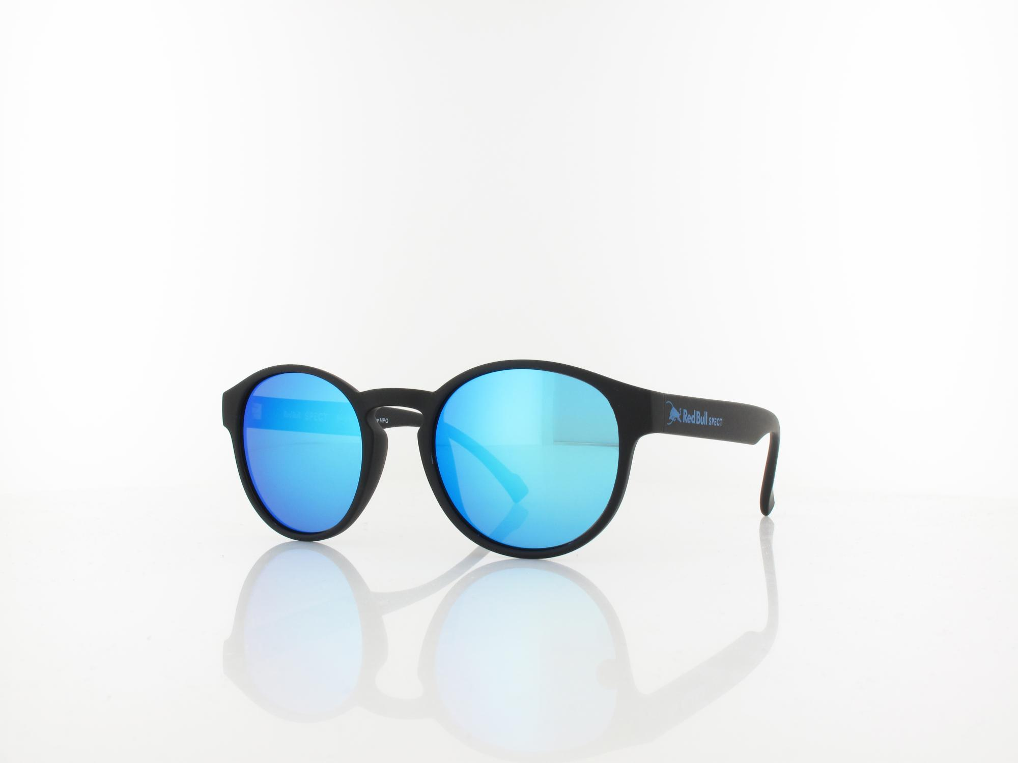 Red Bull SPECT | SOUL 002P 48 | black / smoke with blue mirror pol