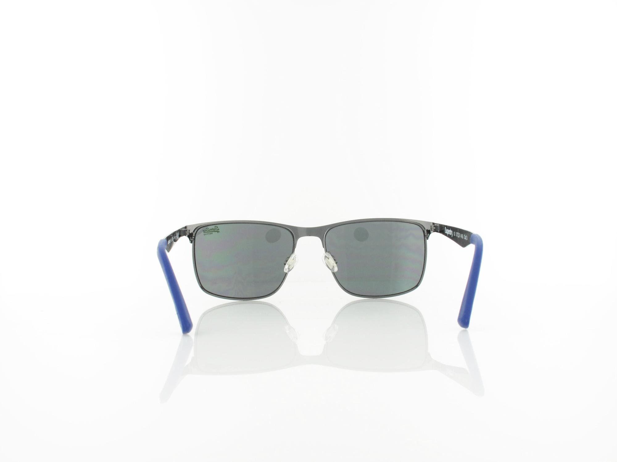 Superdry | Ace 005 57 | shiny gun navy / solid smoke with silver flash mirror