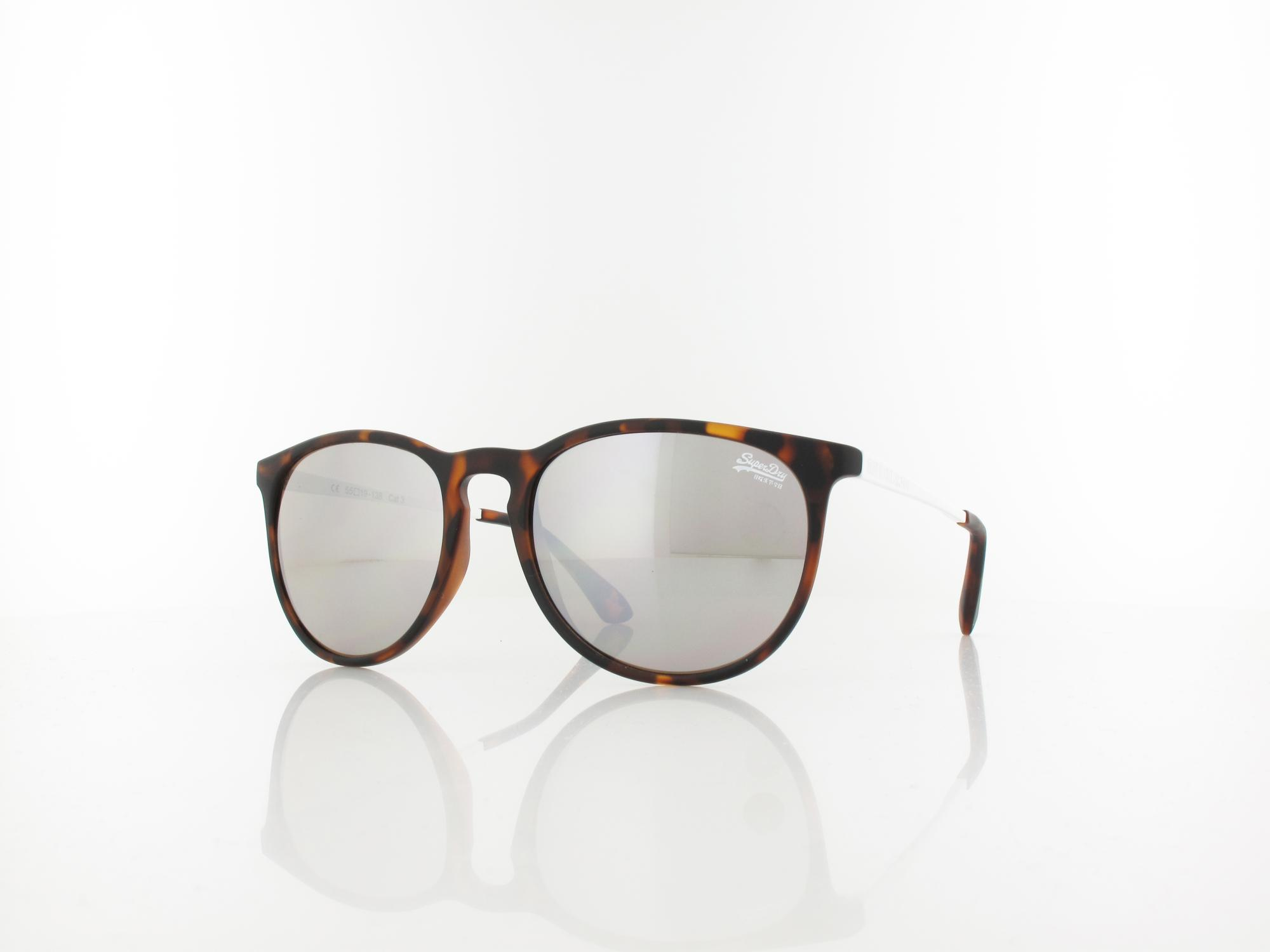 Superdry | Darla 122 55 | matte tort white / solid brown with silver mirror
