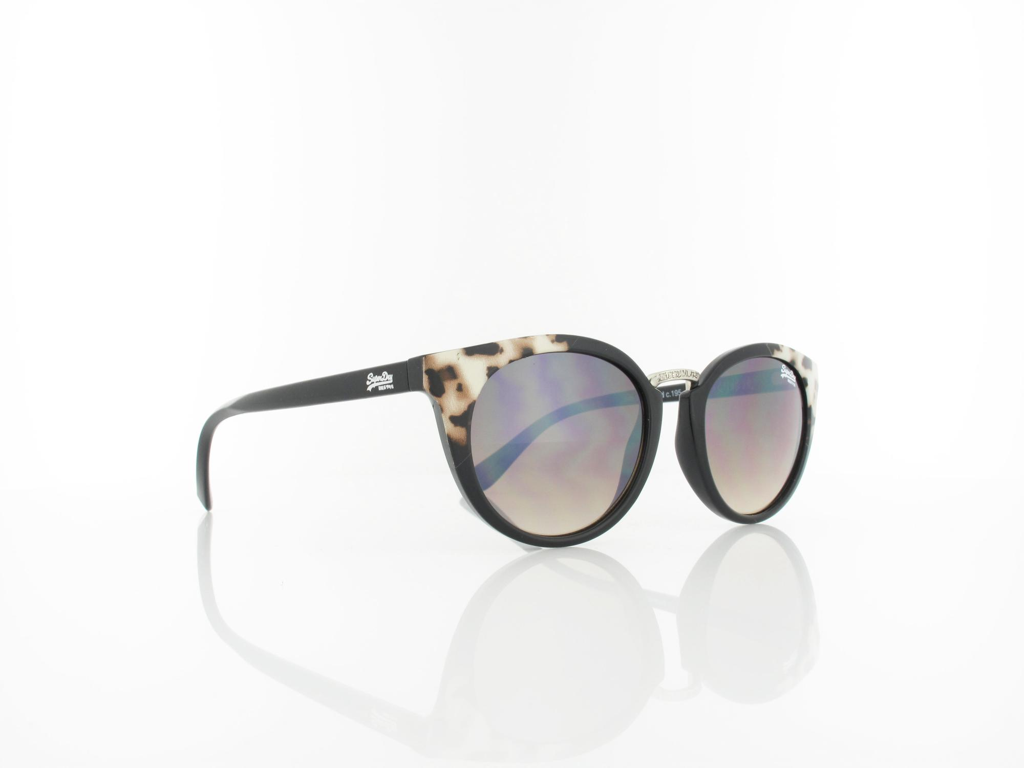 Superdry | Girlfriend 195 50 | gloss black leopard / brown fade with silver flash mirror