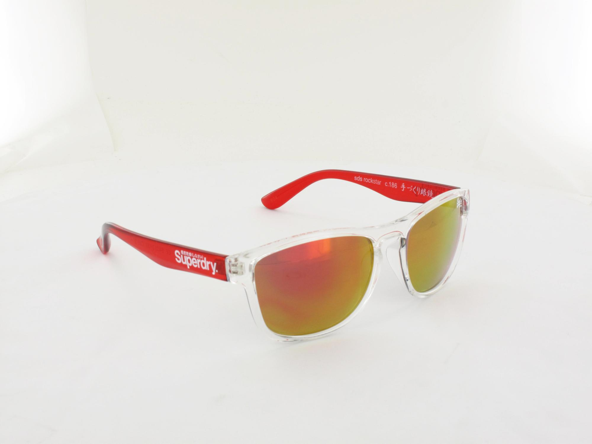 Superdry | Rockstar 186 54 | clear red transparent / red mirror