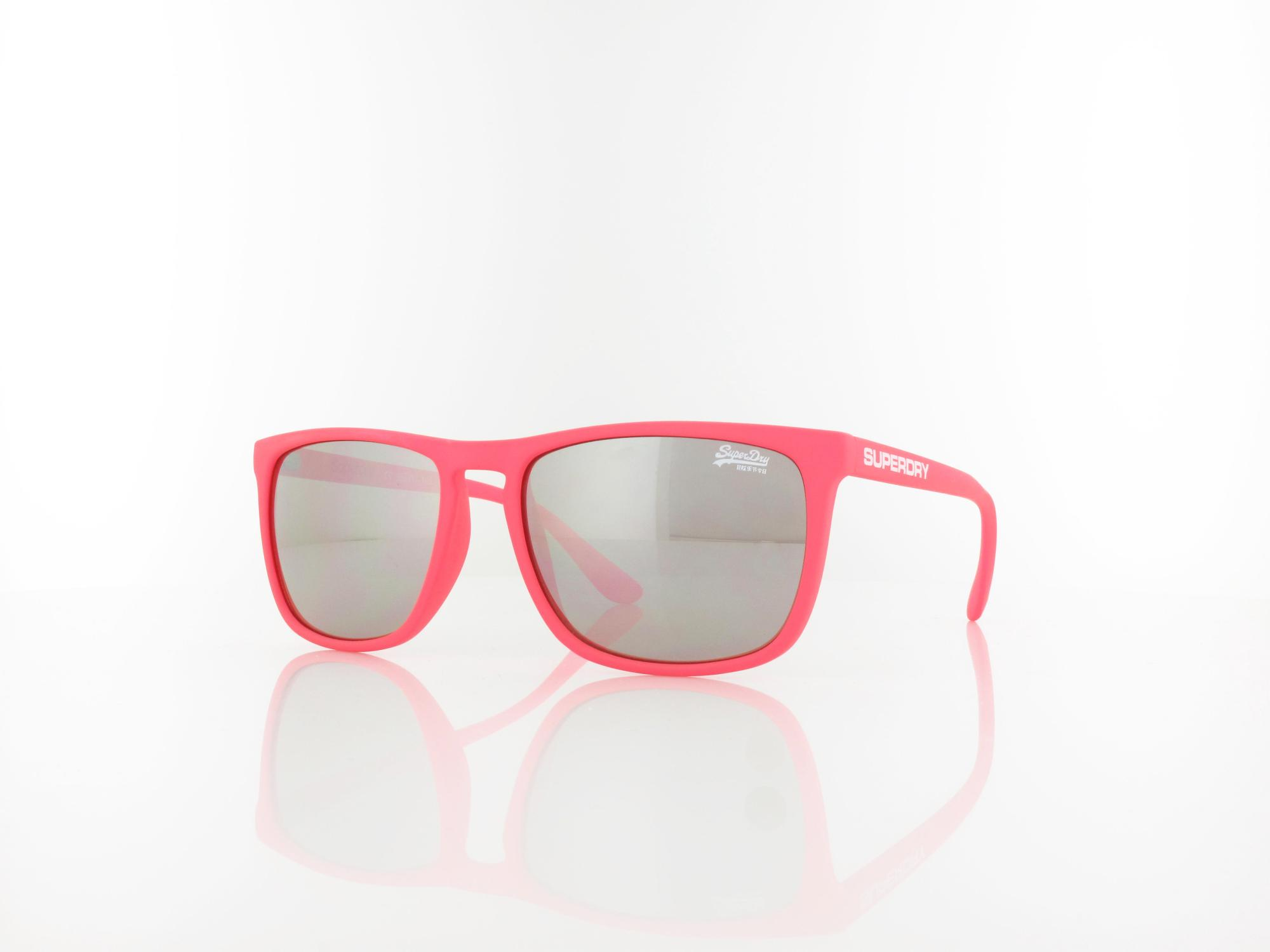 Superdry | Shockwave 191 55 | rubberised fluro pink / brown with silver flash mirror