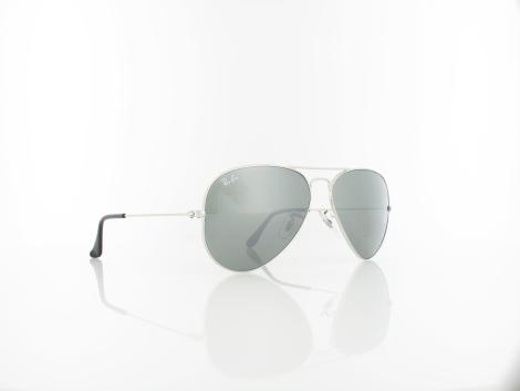 Ray Ban | Aviator Large Metal W3277 58 | silver crystal / crystal grey mirror