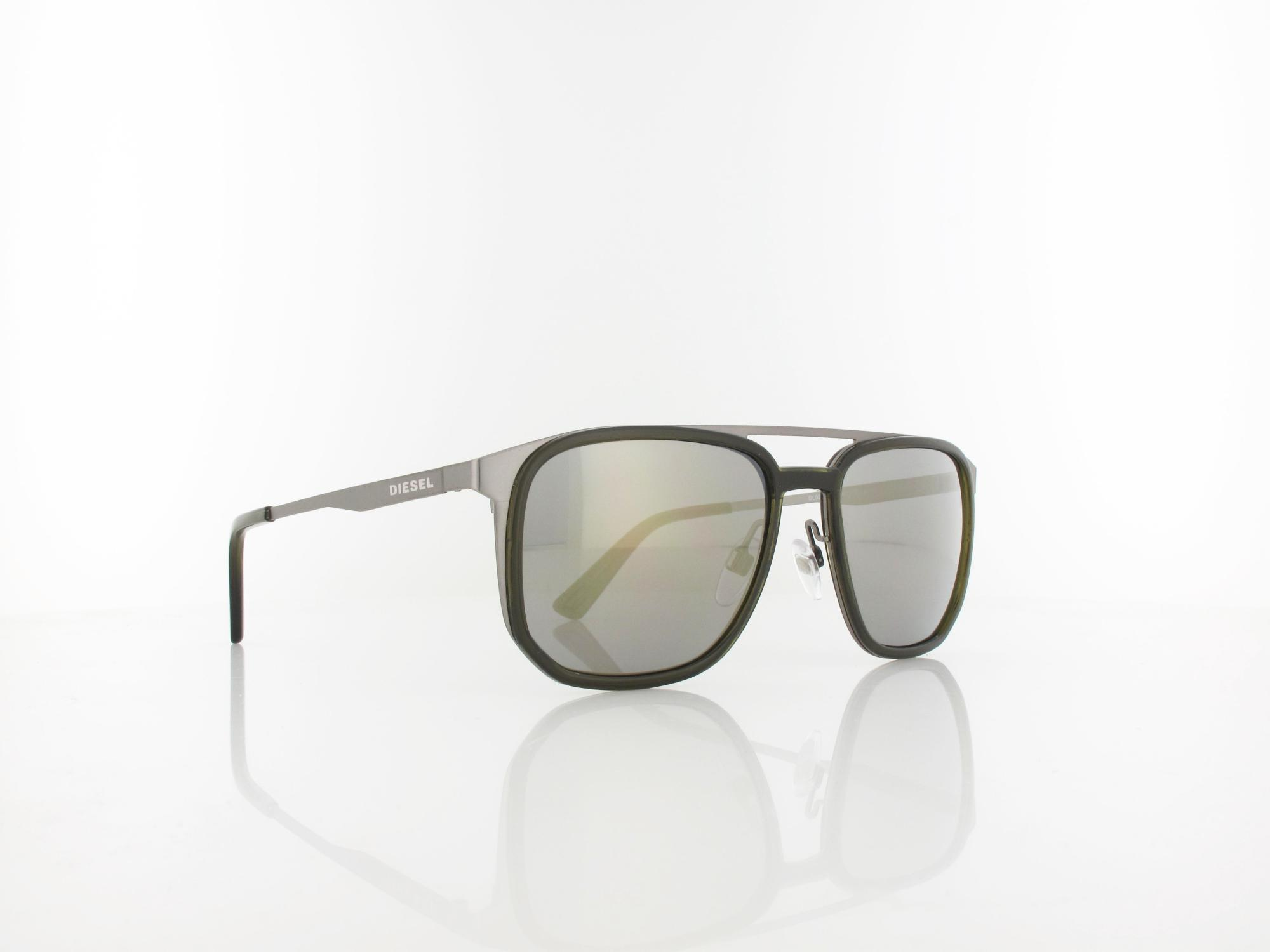 Diesel | DL0294/S 09C 55 | matte anthracite / grey mirror