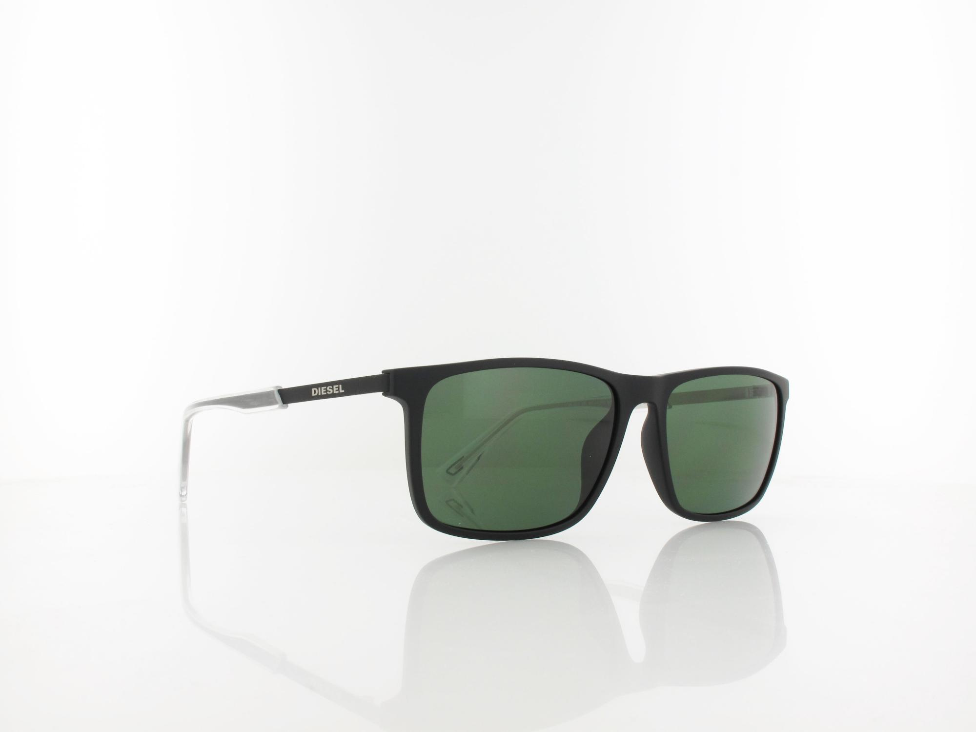 Diesel | DL0312/S 02R 57 | black matte / green polarized