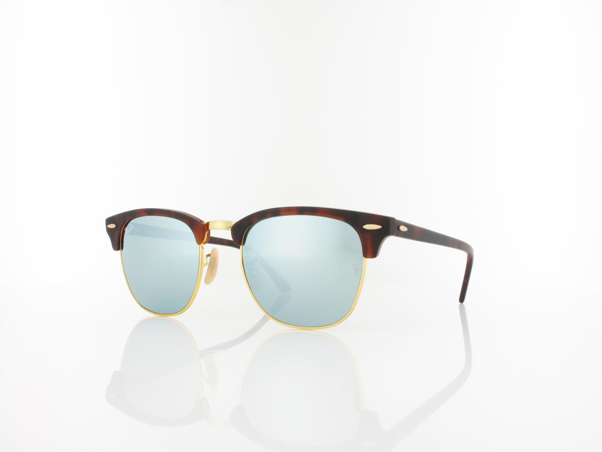 Ray Ban | Clubmaster RB3016 114530 51 | sand havana gold / light green mirror silver