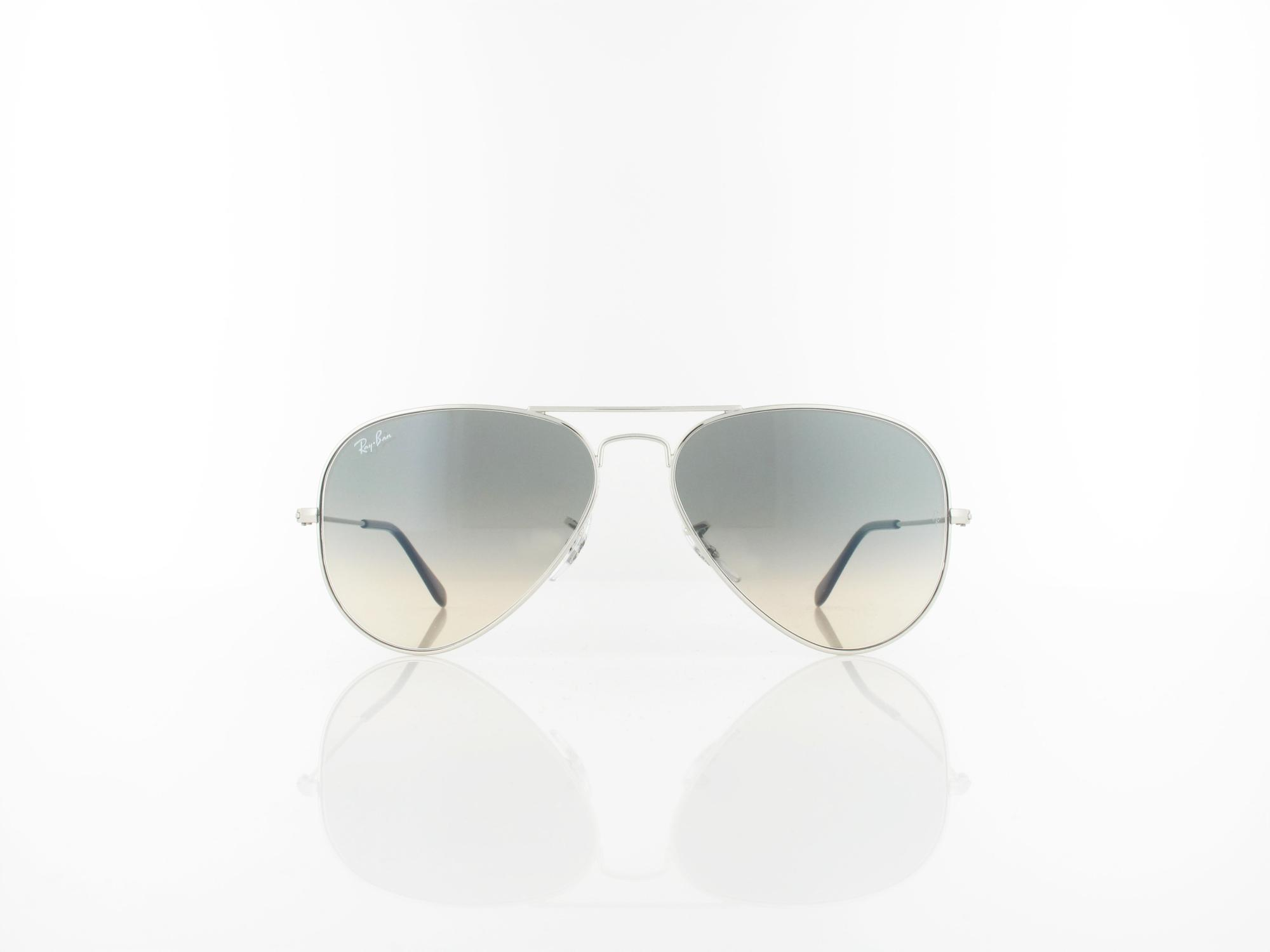 Ray Ban | Aviator Large Metal RB3025 003/32 58 | silver / crystal grey gradient