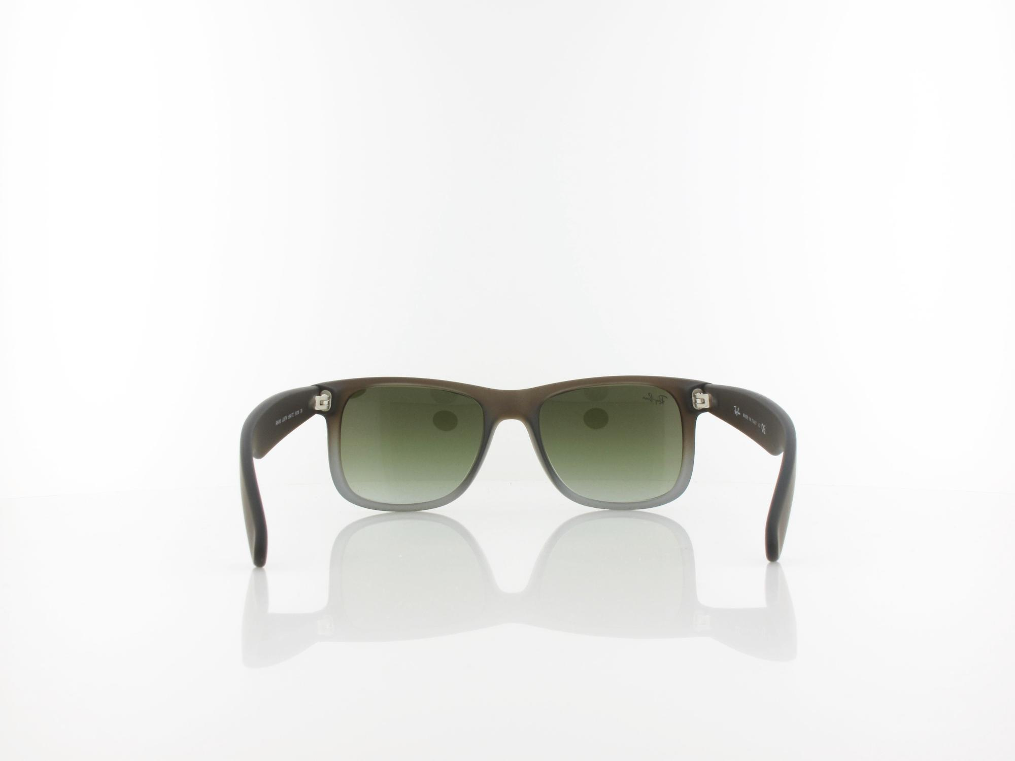 Ray Ban | Justin RB4165 854/7Z 51 | rubber brown on grey / green gradient
