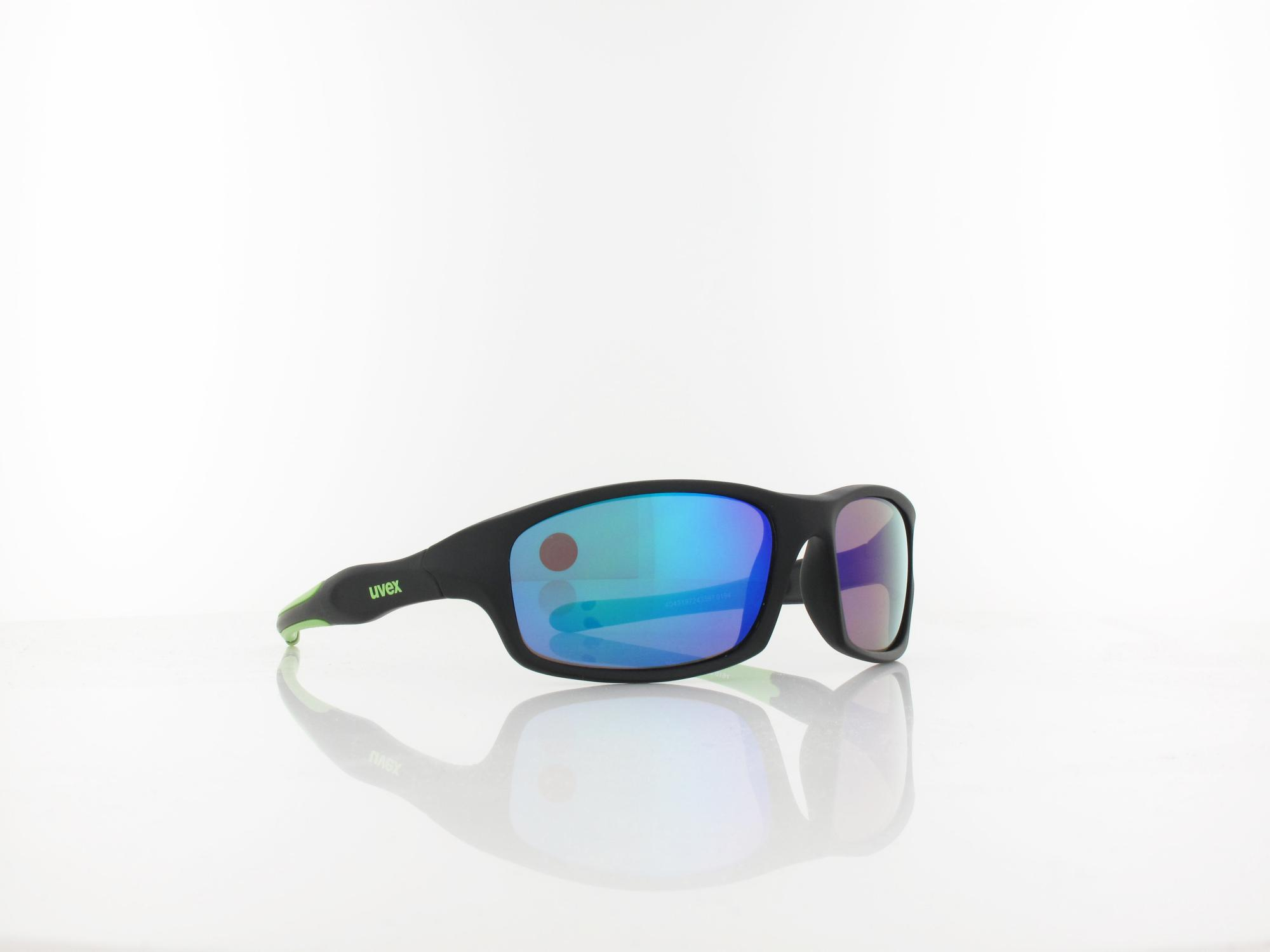 UVEX | sportstyle 507 S533866 2716 53 | black mat green / mirror green