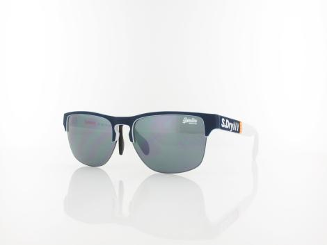 Superdry Laserlight 106 55 rubberised white blue / smoke with silver flash mirror