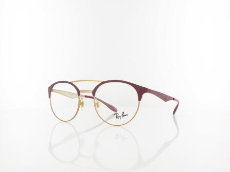 Ray Ban RX3545V 3007 49 pink gold on top matte bordeau